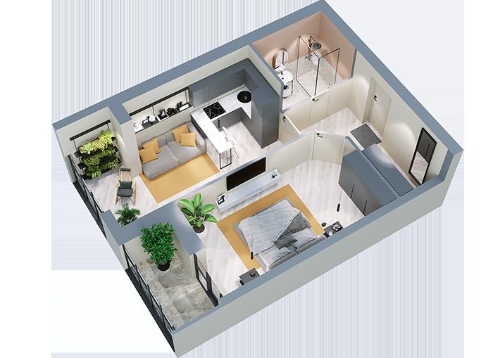 Квартира 1В